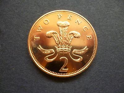 1985 Brilliant Uncirculated 2P Coin.1985 Uncirculated Two Pence Piece.