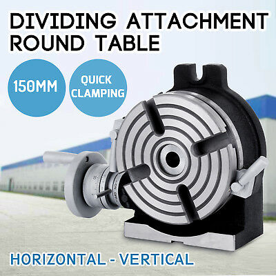 150mm Dividing Attachment Round Table Adjustable Screw Closed Design 4-jaw Chuck