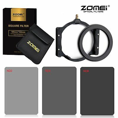 Zomei 72mm ND Square filter kit ND2+ND4+ND8+Holder+Ring for Cokin Z 150*100mm