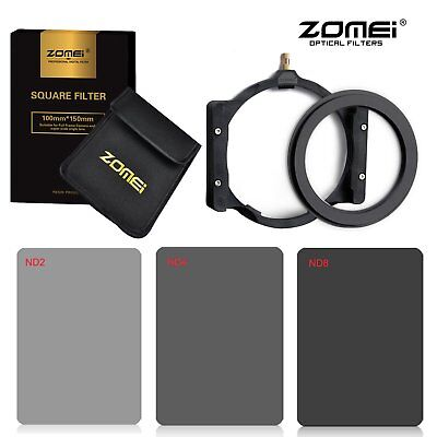 Zomei 82mm ND Square filter kit ND2+ND4+ND8+Holder+Ring for Cokin Z 150*100mm