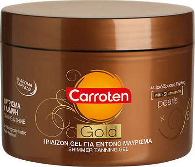 Carroten Intensive Tanning Gel Gold Shimmer  Oil 0SPF 150ml NEW Sun Tan
