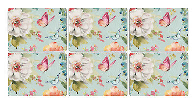Pimpernel Colourful Breeze Placemats Set of 6 Cork Backed Mat Tablemat Tableware