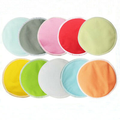 2Pcs Bamboo Nursing Pads Three Layers Pregnant Women's Breast Pads Reusable