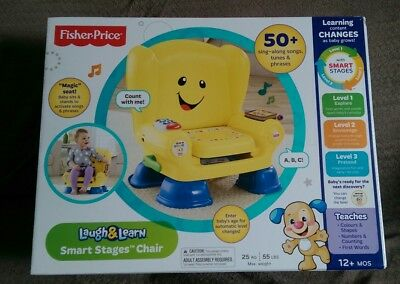 BRAND NEW - BOXED Fisher-Price Smart Stages Chair .THE PERFECT CHRISTMAS GIFT !
