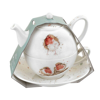 Wrendale Tea for One Robin Teapot Cup Saucer Set Gift Birds
