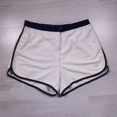 """Ladies ADIDAS 28"""" Vintage White Polyester Tennis Sports Holiday Shorts #D4381"""