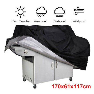 Barbecue Cover Heavy Duty Waterproof Breathable Oxford fabric Extra Large 190CM
