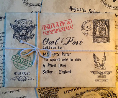 Personalized Hogwarts Acceptance Letter and Express Ticket