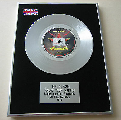 THE CLASH Know Your Rights PLATINUM Single DISC Presentation