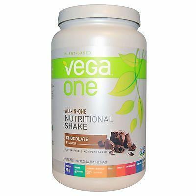 3 x NEW Vega One All-In-One Nutritional Shake - Chocolate Large size 876g