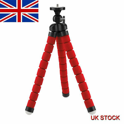 Octopus Mini Tripod Stand Grip Holder & Mount Mobile Phones Cameras Gadgets Red