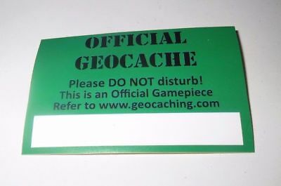 Geocaching Vinyl Sticker x1 - Protect Your Cache From Accidental Finds