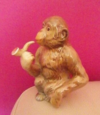 Rare Beswick - Chimpanzee With Pipe Model Number 1049 - Excellent !!