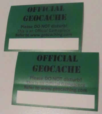 Geocaching Vinyl Sticker x2 - Protect Your Cache From Accidental Finds