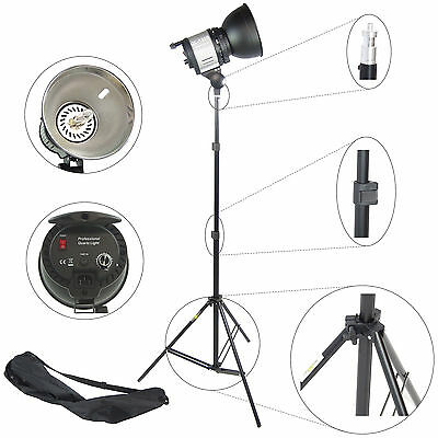 Kit d'éclairage Studio Torche Lumiere Quartz DynaSun QL1000 1000W + Trépied W803