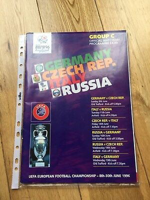Euro 96 Group C Official Match Programme