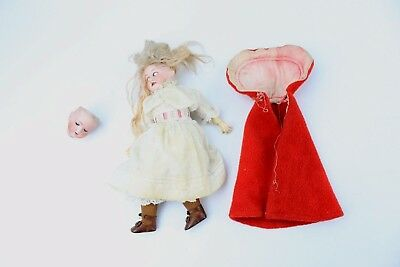 Fantastic ARMAND MARSEILLE Doll with Red Clock and WALTER & SOHN Doll Head