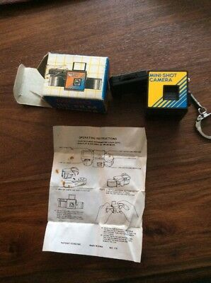 Vintage Mini.Shot 110 Keyring Camera Boxed With Instructions