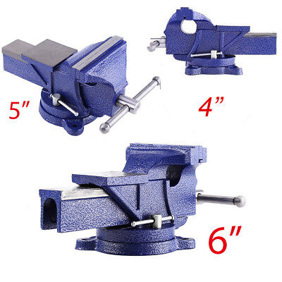 Heavy Duty Engineer Vice Swivel Base Clamp Jaw Work Bench Table Cast Iron 3 Size