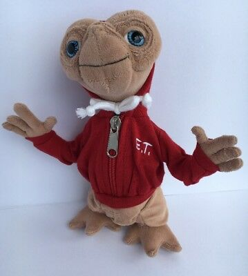 """Universal Studios Plush E.T. The Extra Terrestrial 9"""" Red Hoodie Toy"""
