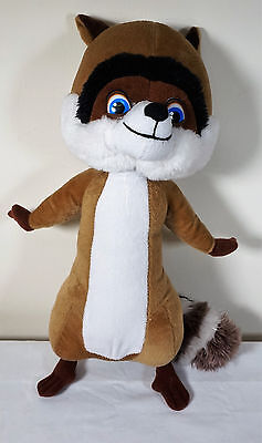 """RJ Racoon from Over The Hedge Dreamworks Soft Plush Toy 14"""""""