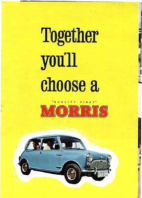 Morris Nuffield 1959-60 UK Market Foldout Sales Brochure Wolseley Riley MG Mini