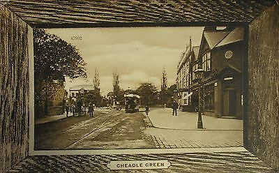 Tram At Cheadle Green Cheshire 1914 Pc