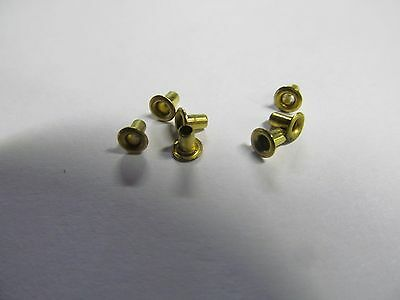 (300) Brass Hollow Rivets Or Electrical Wire Terminals.
