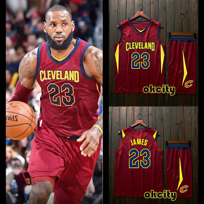 Top & Shorts LeBron James #23 LBJ Cleveland Cavaliers NBA Youth Child Kid Jersey