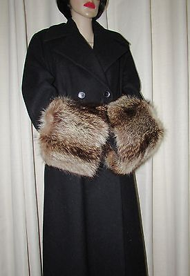 Vintage Superbe  3X Large  Natural Raccoon  Fur Coat Cuffs Accessory
