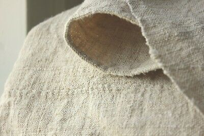 Antique hemp European sheet 18th / 19th 42 in by 67 inches  homespun linen cloth