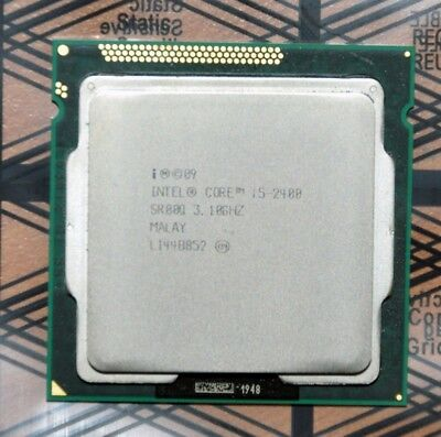 Intel Core i5-2400 3.1GHz (Max 3.4GHz) LGA1155 CPU Processor - SR00Q