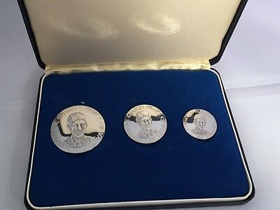 Medals: 3 x Silver Coins: The Investiture Of HRH Prince Charles: Ex Con -Bullion