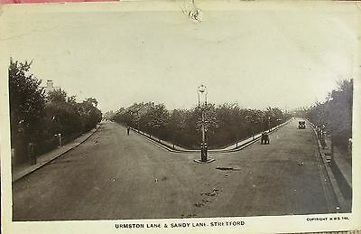 Urmston & Sandy Lane Junction Stretford Manchester Lancashire 1919 Rp Pc