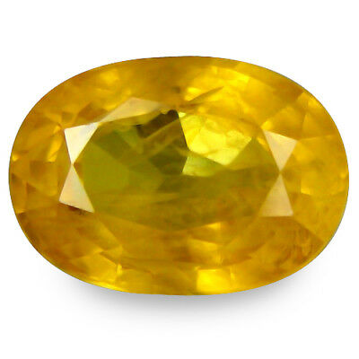 2.055Cts Marvelous Luster Yellow Natural Sapphire Oval See Video