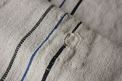WASHED Vintage rustic primitive grainsack grain sack fabric linen hemp nubby
