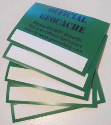 Geocaching Vinyl Sticker x5 - Protect Your Cache From Accidental Finds