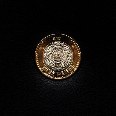 """2016-10 Pesos Mexico 2016 """"Tonatiuh with Fire Mask"""" Ship 50Cts Per item Added"""