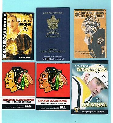 NHL pocket schedules lot (12)