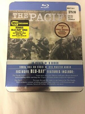 The Pacific (Blu-ray Disc, 2010, 6-Disc Set) from Tom Hanks and Steven Spielberg