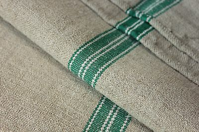GRAINSACK GRAIN SACK fabric linen homespun European GREEN Christmas fabric