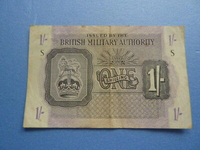 British Military Authority  1 Shilling banknote, 1943,  #M2
