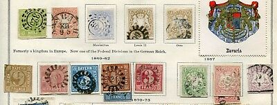 German States ( Bavaria ) -  Small collection  MH/Cancelled