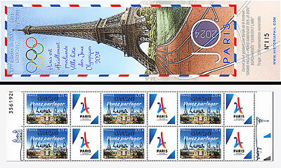 FRANCE Collector booklet in NEW Olympic Games Paris 2024 overload 13/09/17 Lima