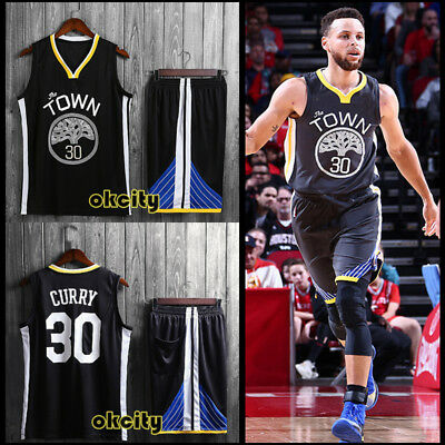 Top & Shorts Stephen Curry #30 Golden State Warriors NBA Youth Child Kid Jersey