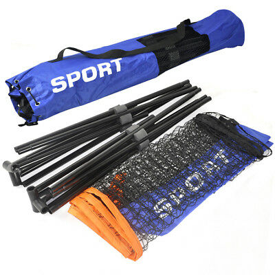 2X(Mini Badminton Net Tennis Nets Volleyball Net With Frame Stand Foldable E5G3