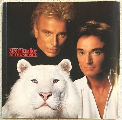 Siegfried & Roy At The Mirage In Vegas Program - Magicians Of The Century