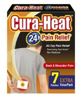Cura Heat Back Shoulder Pain Relief Activated Heat Patches Pack 14