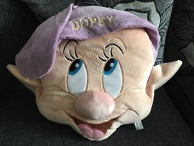 Disney Store Limited Edition Dopey Dwarf Snow White Princess Cushion