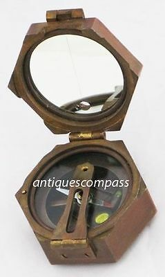 Solid Brass Bruntun Compass Working Natural Sines- KELVIN HUGHES LONDON 1917